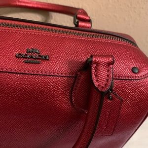 Coach Mini Bennett satchel - Metallic red Leather